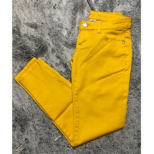 Celebrity Pink | Golden Yellow Skinny Jeans. Sz 1.